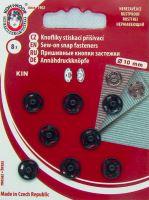 Našívací patenty KIN vel.2 nikl