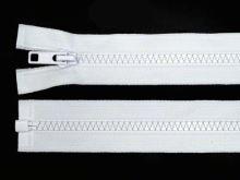 Zdrhovadlo zip kostěný 40 cm dělitelný bílá