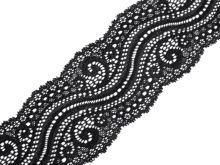 Pružná krajka šíře 65mm černá