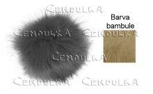 Bambule kožešinová 12cm béžová