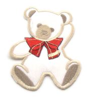 Nažehlovací aplikace medvěd s mašlí