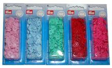 Plastové patentky Color snaps 12,4 mm srdce