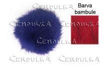 Bambule kožešinová 8cm červená