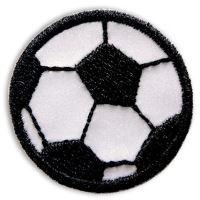 Nažehlovací aplikace reflexní fotbalový míč