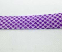 Šikmý proužek 20mm BA/PES kostička sv. fialová
