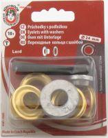 Průchodky kovové LORD 12mm mosaz