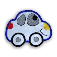 Nažehlovací aplikace reflexní auto modré