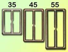 Přezka opasková 35mm bez trnu Staroměď