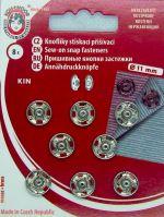Našívací patenty KIN vel.3 nikl
