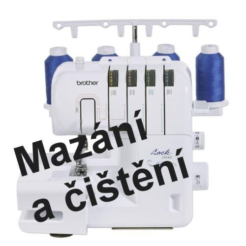 Mazání overlocku Brother 2104