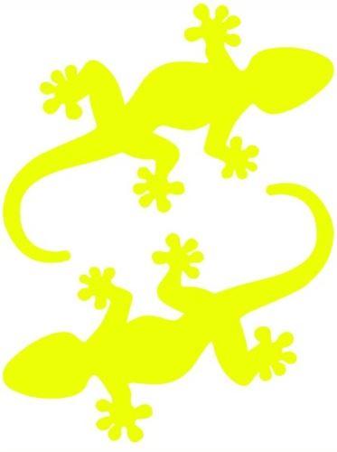 Nažehlovací aplikace ještěrky neonově žlutá