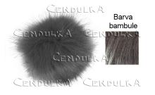 Bambule kožešinová 12cm tm. šedá