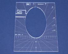 Quiltovací pravítko elipsa 2 výška 5mm