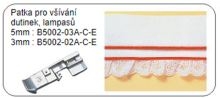 Patka pro všívání dutinek, lampasů 5 mm