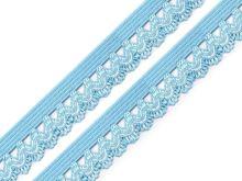 Ozdobná pruženka šíře 15 mm sv modrá