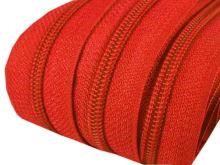 Zip spirálový v metráži 5mm červený