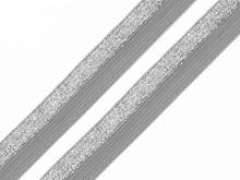 Pruženka lemovací s lurexem 17mm šedá