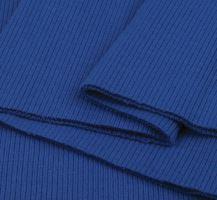 Náplety elastické žebrované - tunel 16x80 cm modrá