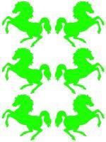 Nažehlovací aplikace koně neonově zelená