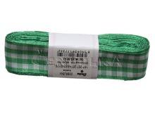 Stuha žakárová 25mm kostka, zelená