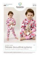 Tištěný střih Dětské dvoudílné pyžamo vel. 80-134