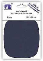 Nažehlovací záplata koženková 11x10 cm 2 ks v balení tmavě modrá