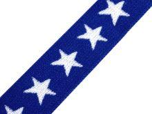 Pruženka plochá 20mm hvězda královská modrá