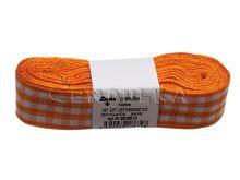 Stuha žakárová 25mm kostka, oranžová