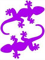 Nažehlovací aplikace ještěrky neonově fialová