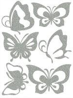 Nažehlovací aplikace reflexní motýlci