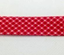 Šikmý proužek 20mm BA/PES kostička červená