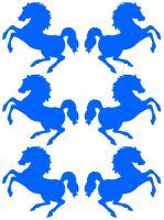Nažehlovací aplikace koně neonově modrá