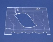 Quiltovací pravítko bordura 2 výška 3mm