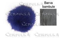 Bambule kožešinová 8cm šedá
