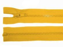 Zdrhovadlo zip kostěný 60 cm dělitelný sytě žlutá
