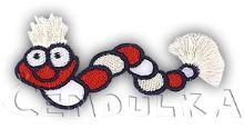 Nažehlovací housenka červená