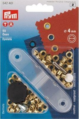 Průchodky PRYM kovové 4mm mosaz