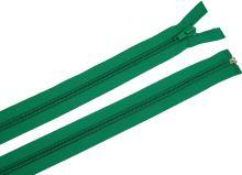 Zdrhovadlo zip plastový 55cm dělitelný šíře 6mm trávová zeleň