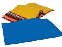 Plsť-filc dekorační mix barev