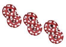Našívací patenty KIN velikost 8 bílé puntíky