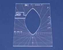 Quiltovací pravítko list 2 výška 3mm