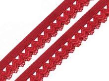 Ozdobná pruženka šíře 15 mm tmavá červená