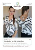 Tištěný střih Dámské tričko s vodou vel. XXS-XXXL