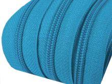Zip spirálový v metráži 5mm modrý