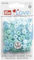 Prym LOVE mini plastové patentky Color snaps mátový mix