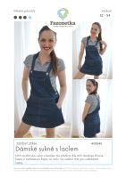 Tištěný střih na dámskou sukni s laclem vel. 32-54