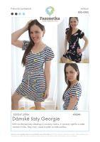 Tištěný střih na šaty Georgie vel.XXS-XXXL