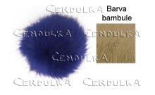Bambule kožešinová 8cm béžová