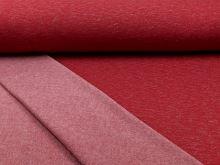 Počesaná teplákovina červená