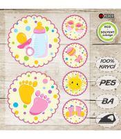Nažehlovací aplikace novorozenec I růžová